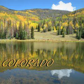 Colorado Fall with Lake